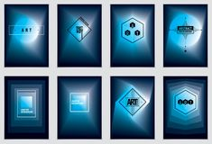 Future geometric design templates. Abstract geometric vector pat. Terns set. Layouts for Covers, Placards, Posters, Flyers and Banner Designs. A4 print format vector illustration