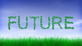 Future - Green Leaf Text Animation stock footage