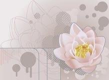 Future grunge lotus background Royalty Free Stock Images