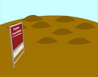 Future Home Location Illustration. Future location of your house graphic. Empty dirt lot Royalty Free Stock Photos