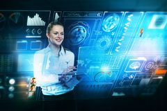 Future and hud concept Royalty Free Stock Image