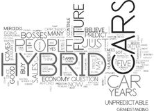 Is The Future Of Hybrid Cars Unpredictable Text Background  Word Cloud Concept Royalty Free Stock Photography