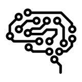 Future icône de cerveau, style d'ensemble illustration de vecteur