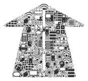 Future icône de composition en route pour BigData et le calcul illustration libre de droits