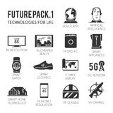 Future  icons set. Royalty Free Stock Photography