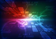 Future illustration de fond de technologie de télécom de vecteur abstrait illustration libre de droits