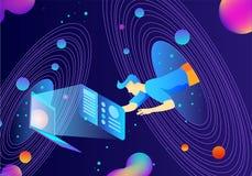 Future illustration de vecteur de la science et technologie illustration de vecteur