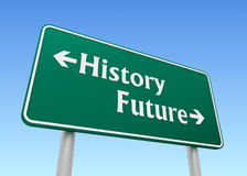 Future illustration du concept 3d de panneau routier d'histoire illustration de vecteur