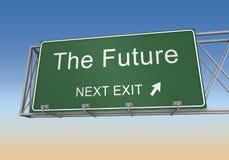 Future illustration du panneau routier 3d illustration libre de droits