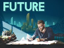 Future Imagine Innovation Plan Progress Vision Concept Stock Image