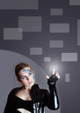 Future interface concept. Cyber woman and future interface concept Royalty Free Stock Images