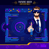 Future interface utilisateurs abstraite illustration stock