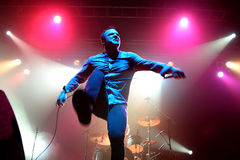 Future Islands (synthpop electronic dance band) performs at Razzmatazz stage Stock Image
