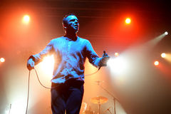 Future Islands (synthpop electronic dance band) performs at Razzmatazz stage Stock Images