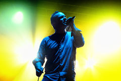 Future Islands (synthpop electronic dance band) performs at Razzmatazz stage Royalty Free Stock Photos