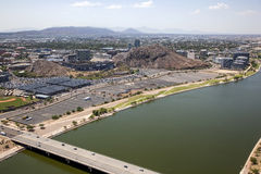Future lake front development in the desert Stock Image