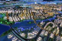 Future landscape of amoy city, china Stock Image