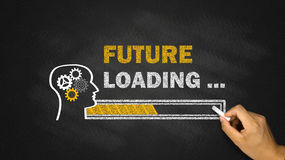 Future loading concept. On blackboard vector illustration