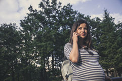 Future mom 2. Active woman  in the nature Royalty Free Stock Photography