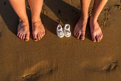 Family feet royalty free stock images