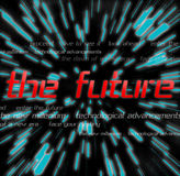 The Future Montage. Typography montage themed around the future Royalty Free Stock Photography