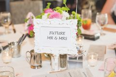 Future Mr and Mrs table top sign for Bridal Showers