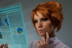 Future newspaper concept Stock Image