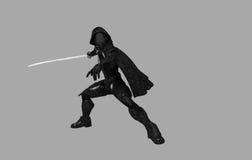 Future ninja. 3d render of a future ninja Royalty Free Stock Image