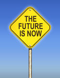 The Future is Now Road Sign Stock Photography
