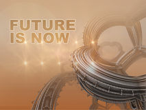 The future is now written on   fractal composition  Royalty Free Stock Photography