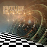 The future is now written on   fractal composition Stock Photography