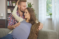 Future parents royalty free stock images