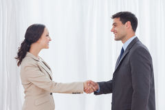 Future partners shaking hands Royalty Free Stock Photography