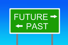 Future and past. Thinking about future, present, past and which decisions to take Royalty Free Stock Photos