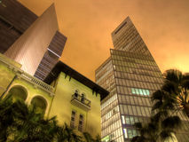 The future and the past. Old and new buildings in Tel aviv, Israel Stock Image