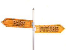 Future and past. 3d. Blank arrows directions. Future and past. 3d Royalty Free Stock Photography