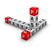 Future, Past & Present. Future, Past & Present  (crossword puzzle series Stock Image