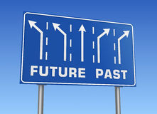 Future past road sign Royalty Free Stock Photo