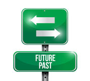 Future past road sign illustration design Stock Image