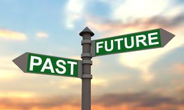 Future and past signpost Stock Photography