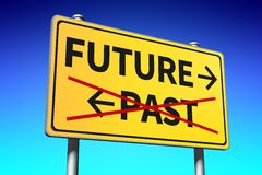 future and past signpost... Stock Photos