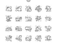 Future pixel Bien-ouvré d'air par technologie parfait illustration stock