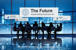 The Future Plan Strategy Vision Innovation Development Concept.  Stock Image