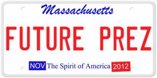 Future plaque minéralogique du Président Images libres de droits