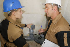Future plumber and teacher Stock Photography