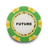 Future Poker Chip Stock Images
