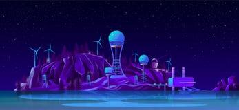 Future power plants cartoon vector concept vector illustration