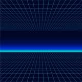 Future rétro ligne fond des années 80 Dirigez le rétro style d'affiches de l'illustration en 1980 s de vague de synth futuriste illustration de vecteur