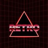 Future rétro ligne fond des années 80 Dirigez le rétro style d'affiches de l'illustration en 1980 s de vague de synth futuriste Images libres de droits