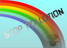 Future Rainbow. Poster for anti pollution project, created in Coreldraw10 Royalty Free Stock Photo